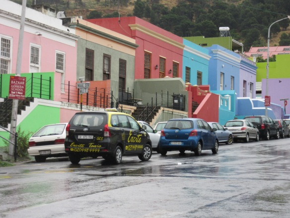 Outside Atlas Trading Co. Bo-Kaap has colorful houses!