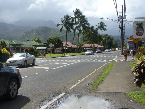 Main road through Hanalei
